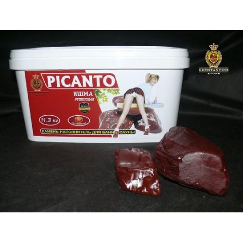 Камень для бани и сауны PICANTO Яшма Рубиновая (14,3 кг) (Полированная)