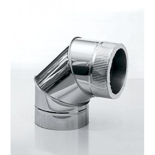 Отвод 90° 3-х сегментный AISI 439/430 для дымохода из нержавеющей стали