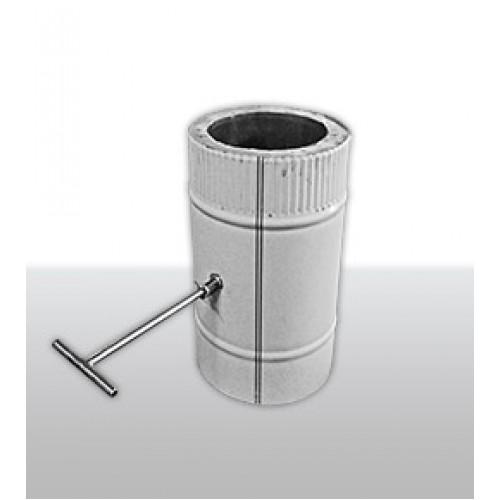Заслонка поворотная изолированная AISI 439/430 для дымохода из нержавеющей стали