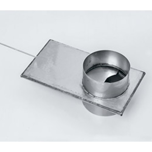 Шибер (2 мм.) AISI 439 для дымохода из нержавеющей стали