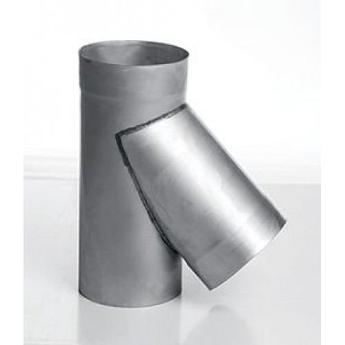 Тройник 45° AISI 439 для дымохода из нержавеющей стали