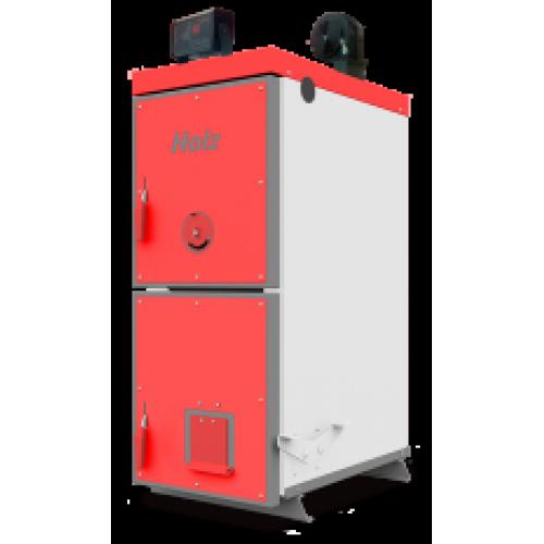 Котел для сжигания угля, древесины и брикетов с использованием автоматики и вентилятора Holz PLUS