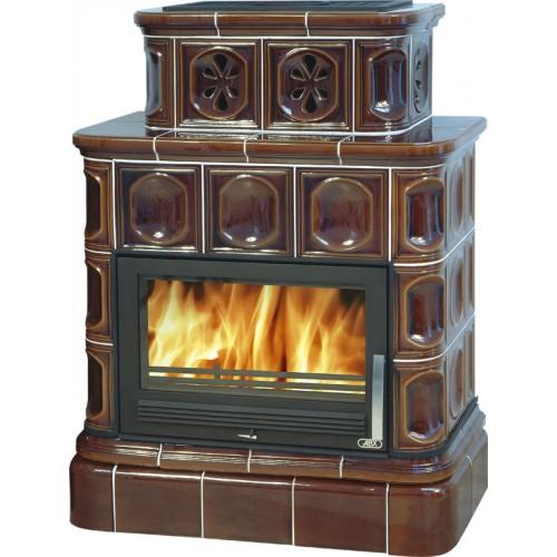 Керамическая печь KARELIE, с кафельным цоколем