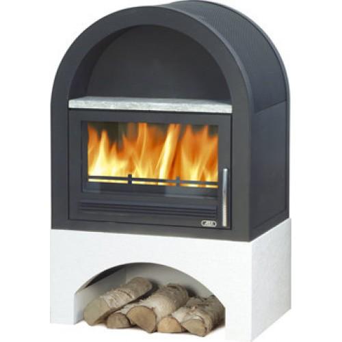 Печь-камин Grunt, с теплообменником