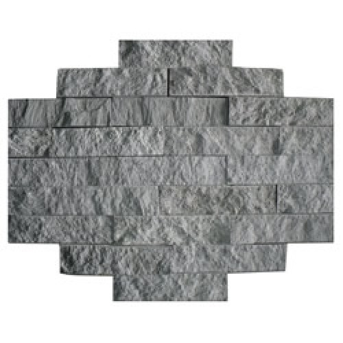 Облицовочная плитка из талькомагнезита «ДИКИЙ КАМЕНЬ» (рваный камень, скала) 200x50x20 мм