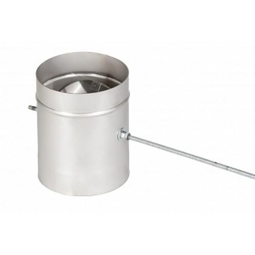 Шибер 1ШП поворотный AISI 310 на трубу дымохода из нержавеющей стали