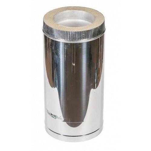 Труба сэндвич 2T (500 мм) AISI 409/430 из нержавеющей стали для дымохода