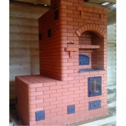 Какие бывают печи для отопления деревянного дома с варочной поверхностью