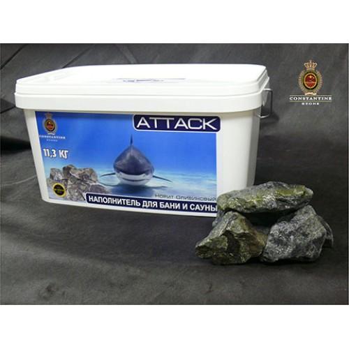 Камень для бани и сауны ATTACK Оливиновый Коктейль (11,3 кг) (фракционированный)