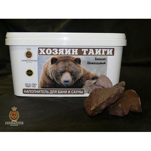 Камень для бани и сауны ХОЗЯИН ТАЙГИ Базальт Шоколадный  (11,3 кг) (фракционированный)
