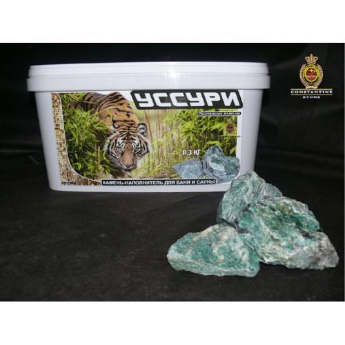 Камень для бани и сауны УССУРИ Лиственит AURUM (11,3 кг) (фракционированная)