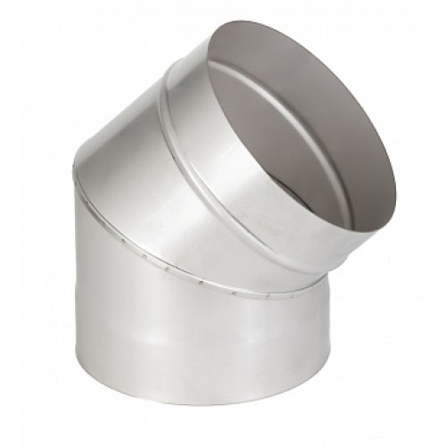 Отвод 45° 1ОТ45 AISI 409 для дымохода из нержавеющей стали