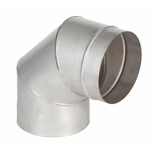 Отвод 90° 1ОТ90 AISI 409 для дымохода из нержавеющей стали