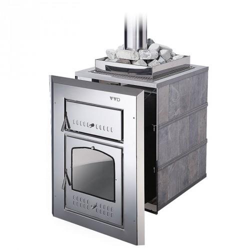 Металлическая печь для бани Чародейка М
